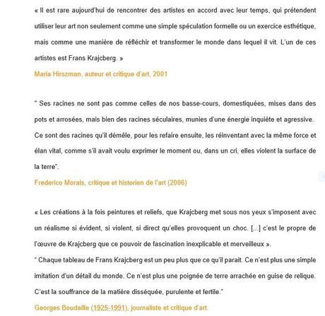 Espace Frans Krajcberg – ce dernier aurait 100 ans ce jour – le 12 Avril 2021 –