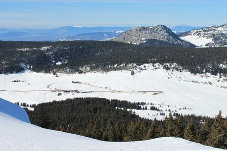 Plateau des Glières en hiver © B. Brassoud - licence [CC BY-SA 4.0] from Wikimedia Commons