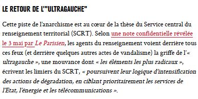 #antennes5G : quand l'idiot de la DGSI suspecte le spectre de Tarnac, le sage observe la secte à Fiorile #CNTF #complotisme #5G