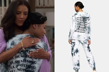 Dad Stop Embarrassing Me! : Sasha Dixon's grey tie dye joggers