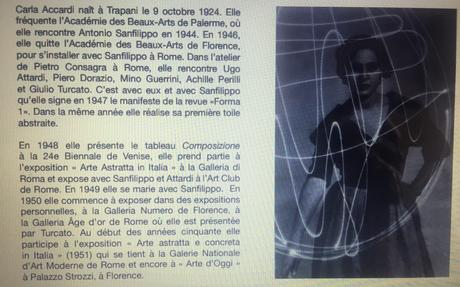 Galerie TornabuoniArt  Paris « Carla Accardi et Dadamaino  20 Mai au 18 Septembre 2021