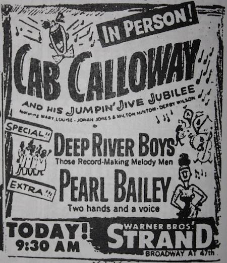 April 16, 1948: Cab in person at the Strand