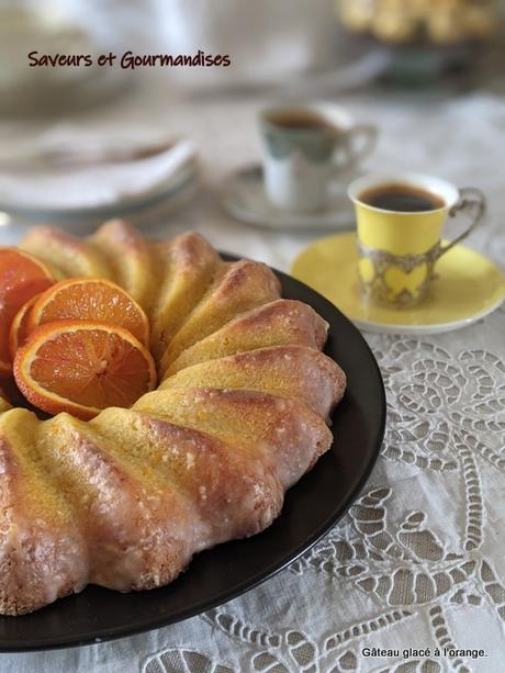 Gâteau glacé à l'orange.