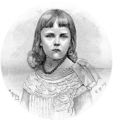 Erzsi, l'archiduchesse Elisabeth-Marie d'Autriche, à l'âge de 5 ans.