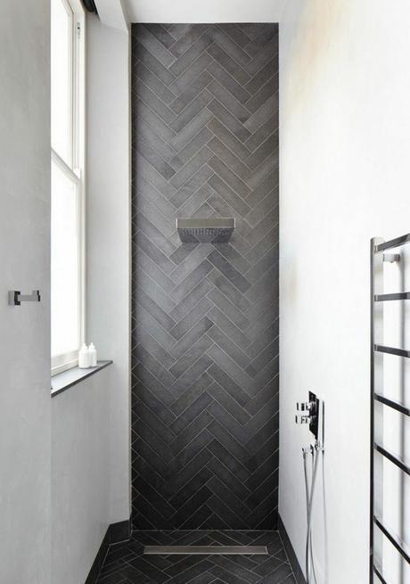 salle de bain gris béton décoration intérieure sobre élégante