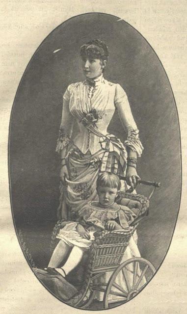 L'archiduchesse Stéphanie, princesse de Belgique, et sa fille Erzsi