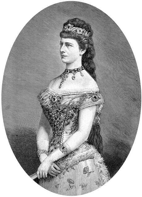 L'impératrice Elisabeth d'Autriche dans le Journal illustré (février 1889)