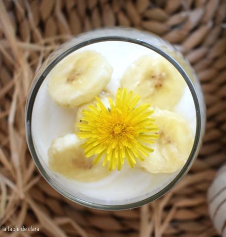 Mangue kiwi banane fromage blanc