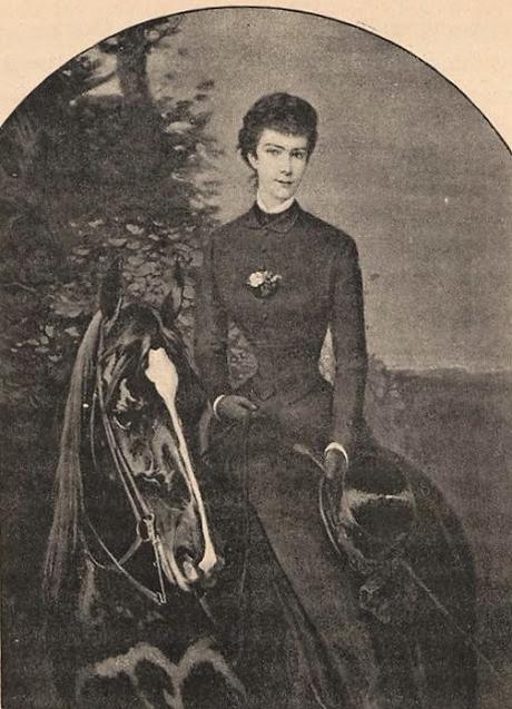 Silhouettes sportives : S.M. l'impératrice d'Autriche. Un texte du baron Charles-Maurice de Vaux.