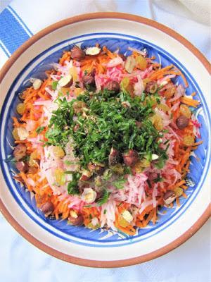 Salade de radis râpés à la crème