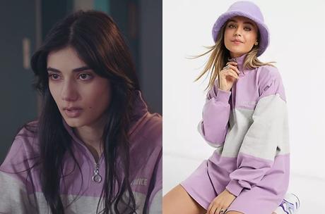 DEMAIN NOUS APPARTIENT : la robe pull violette de Camille dans l'épisode 909