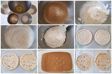 Dacquoise à la crème pralinée