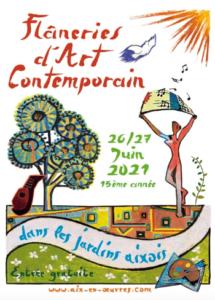 Flâneries d'art contemporain dans les Jardins Aixois Samedi 26 et dimanche 27 juin 2021 15e édition – Aix-en-Provence