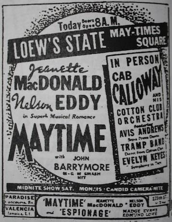 April 22,1937: Meeting on May-Times Square with Cab Calloway