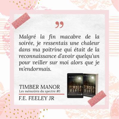 Timber Manor (Les mémoires du spectre #1) de F. E. Feeley Jr