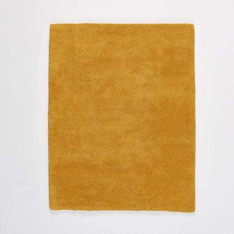 déco jaune tapis uni moelleux poil long