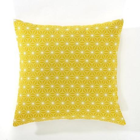 housse de coussin déco jaune citron pop