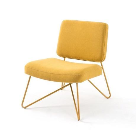 fauteuil pastel retro vintage rembourré
