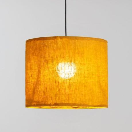 lampe suspension lin abat-jour pas cher