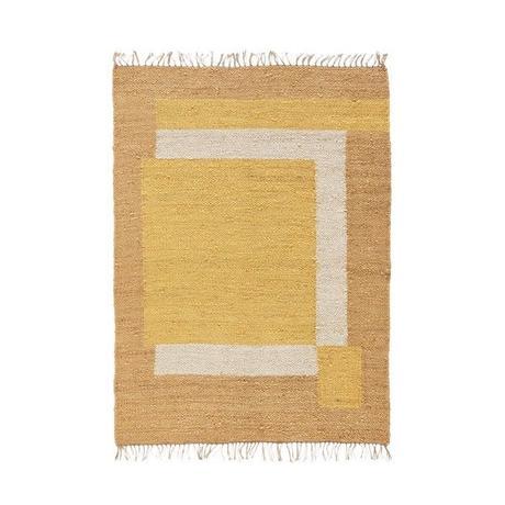 tapis jute graphique camaieu brun