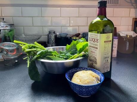 Zéro déchet – Tarte au riz et aux fanes de navets