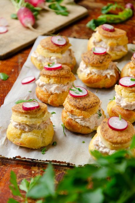 idée apéritif original buffet froid chic choux salé