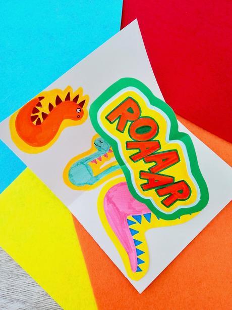 anniversaire enfant thème dinosaure carte diy originale