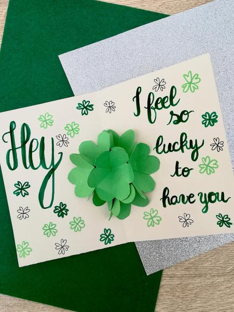saint Patrick idée carte de voeux original Irlande vert