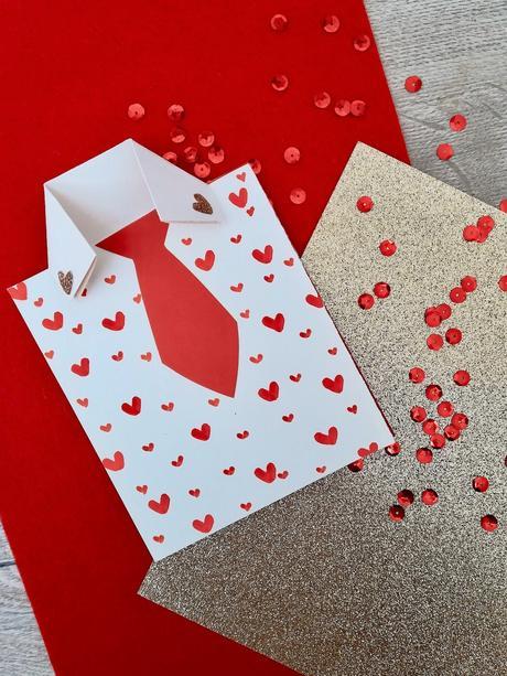 carte fête des mères pères chemise papier customisation - blog déco - clem around the corner