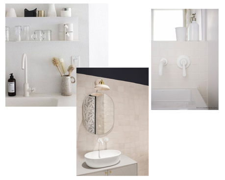 salle de bain robinetterie blanche