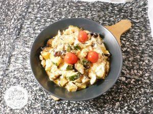 recette de légumes rôti et feta