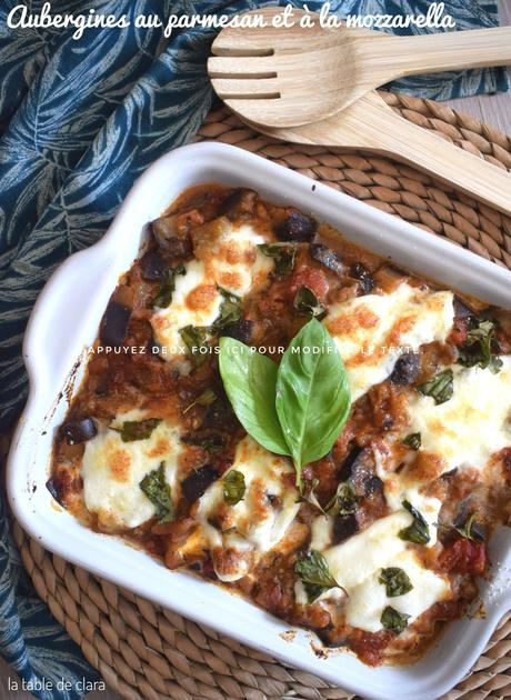 Aubergines au parmesan et à la mozzarella - recette express