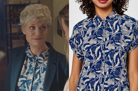 ICI TOUT COMMENCE : la blouse bleue de la cheffe Listrac dans l'épisode 129