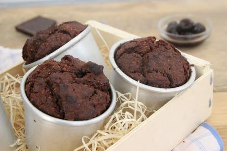 Muffins au chocolat et cerises amarena (vegan)