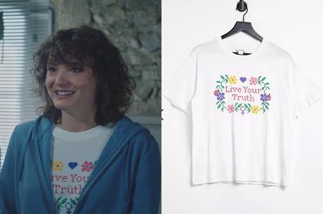 """ICI TOUT COMMENCE  le t-shirt """"live your truth"""" de Kelly dans l'épisode 131"""