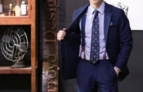 look homme formel avec des bretelles