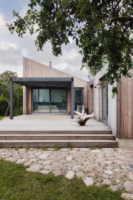 maison architecte façon cabane moderne bois
