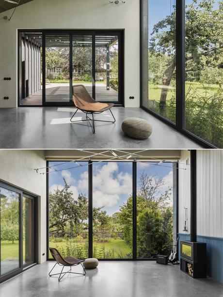 salon véranda extension design industriel - blog déco