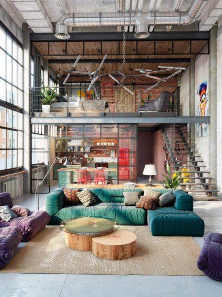 Comment choisir et où placer un canapé dans un loft ou espace ouvert