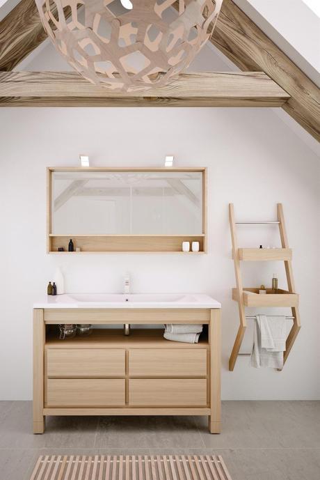 salle de douche meuble vasque inspiration scandinave