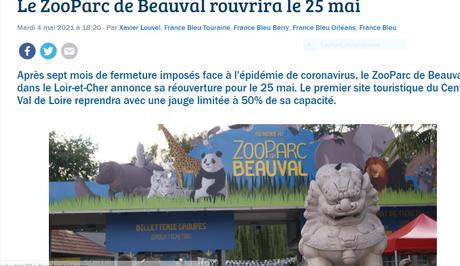 Le Zoo de Beauval – la réouverture attendue  le 25 Mai 2021