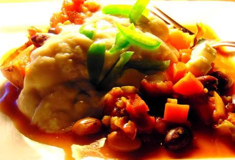 Chili avec boulgour sur patate douce