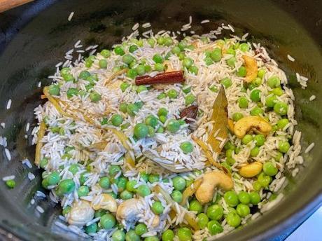 Envie d'Inde – Matar pulao (riz pilaf aux petits pois)