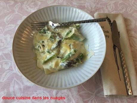 Lasagnes aux asperges vertes et ricotta de bufflonne