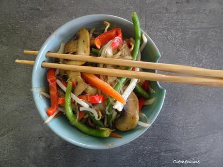 Vermicelle de riz végétarien thai