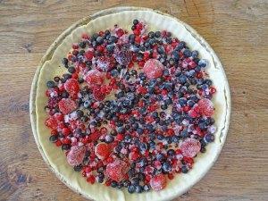 Tarte amandine aux fruits rouges