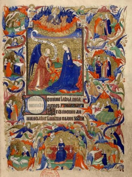 1410-1415 Maitre de la Mazarine Annonciation Heures Mazarine, Mazarine MS 469 fol 13