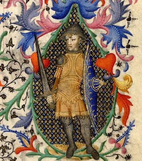 1410-1415 Maitre de la Mazarine Heures Mazarine, Mazarine Dieu apparaissant a David MS 469 fol 83 detail1