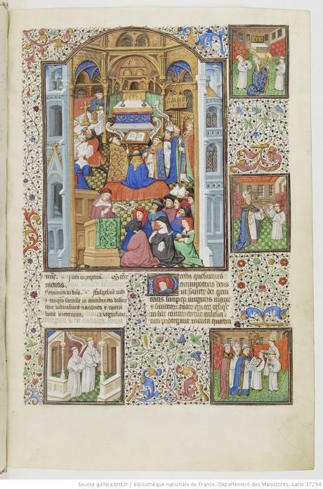 Maitre de Bedford (atelier), 1424-1435, Breviaire de Salisbury, pour le duc de Bedford BNF Lat 17294 fol 497r saintes reliques gallica