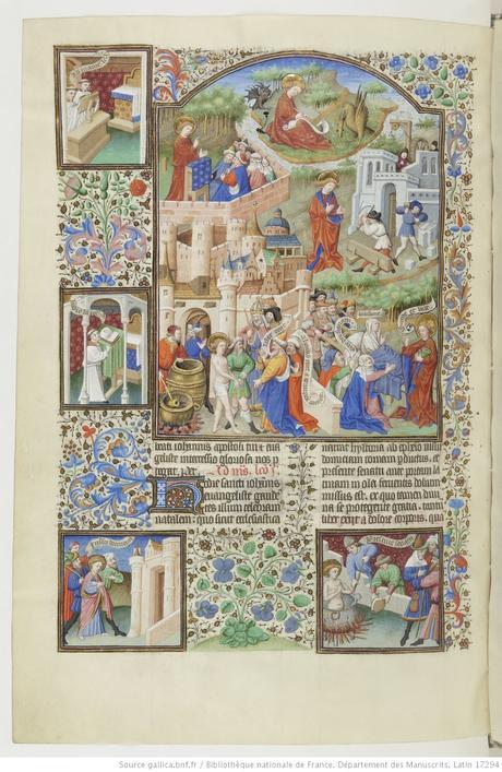 Maitre de Bedford (atelier), 1424-1435, Breviaire de Salisbury, pour le duc de Bedford BNF Lat 17294 fol 455v Saint Jean gallica